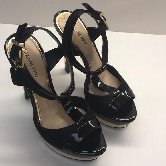"""72ee056ba9d Gianni Bini Shoes - Gianni Bini Open Toed Strappy Heels 5"""" Heel"""